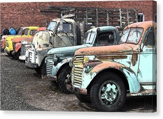 Sprague Trucks Canvas Print by Brent Easley
