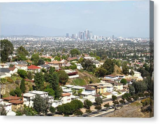 Sprawling Homes To Downtown Los Angeles Canvas Print
