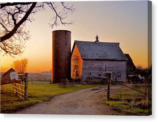 Spring At Birch Barn Canvas Print