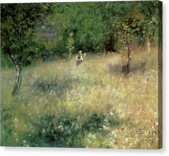 Pierre-auguste Renoir Canvas Print - Spring At Chatou by Pierre Auguste Renoir