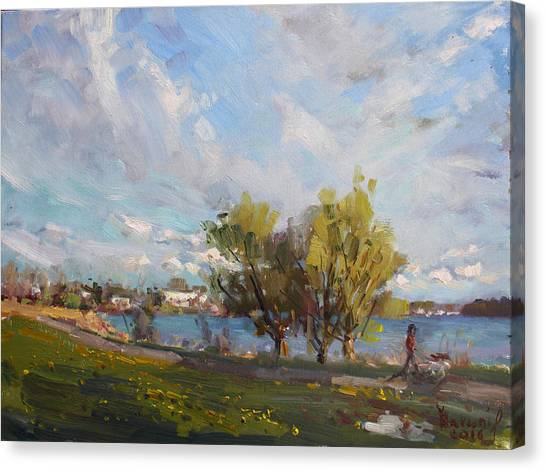 Waterfronts Canvas Print - Spring At Gratwick Waterfront Park by Ylli Haruni