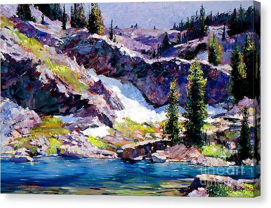 Spring At Jade Lake Canvas Print by David Lloyd Glover