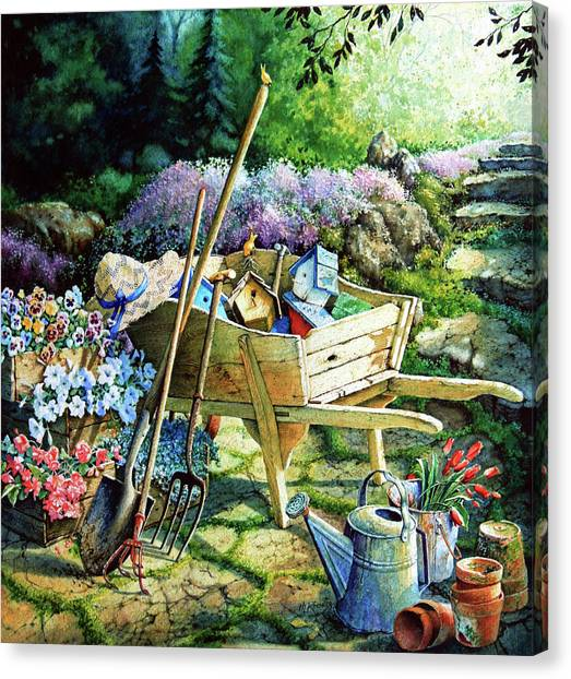 Gardens Canvas Print - Spring At Last by Hanne Lore Koehler