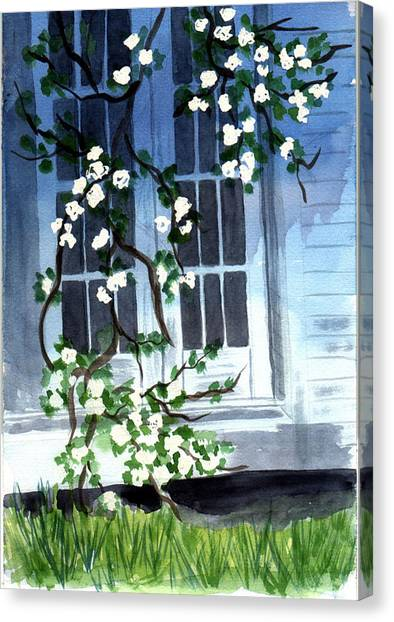 Spring At Mom's Canvas Print by Jane Croteau