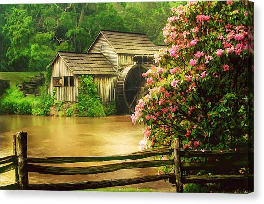 Spring At The Mill Canvas Print