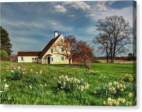 Spring At The Paine House Canvas Print