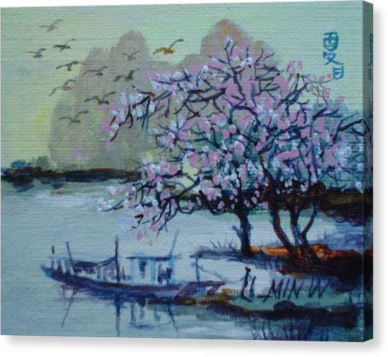 Spring Blossoms Canvas Print by Min Wang