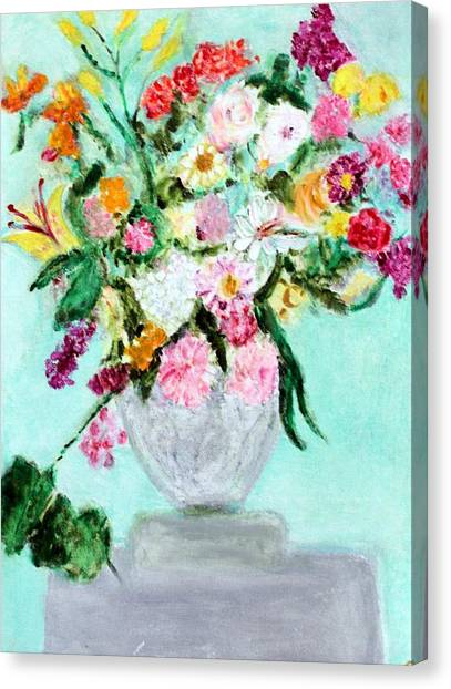 Spring Bouquet Canvas Print by Michela Akers