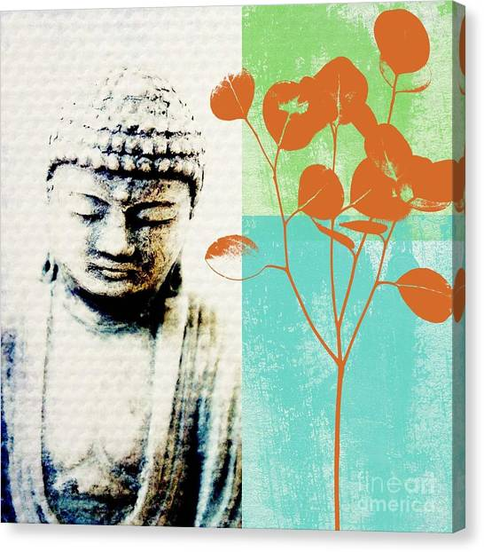 Yoga Canvas Print - Spring Buddha by Linda Woods