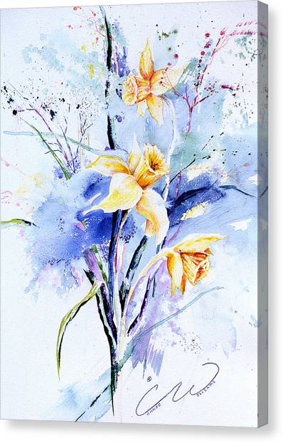 Spring Daffidolds Canvas Print