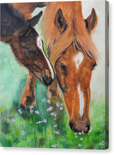 Spring Day In The Meadow Canvas Print
