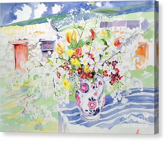 In Bloom Canvas Print - Spring Flowers On The Island by Elizabeth Jane Lloyd
