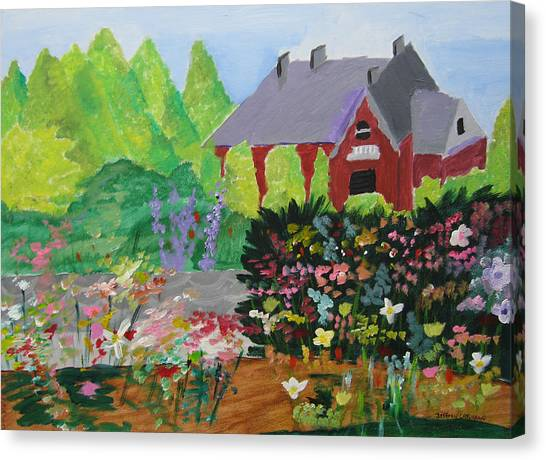 Spring Garden Canvas Print by Jeff Caturano