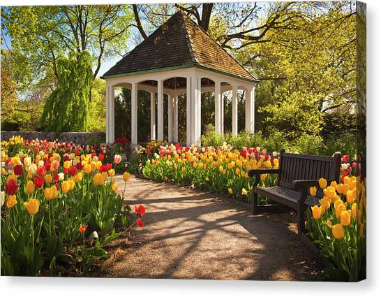 Spring Gazebo Canvas Print
