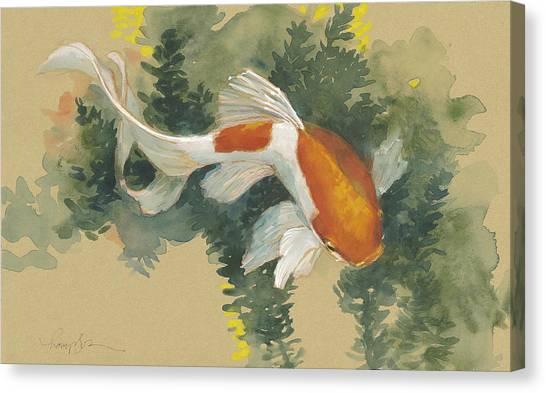 Goldfish Canvas Print - Curvy Goldfish  by Tracie Thompson