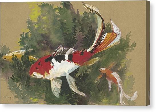 Goldfish Canvas Print - Spring Goldfish II by Tracie Thompson