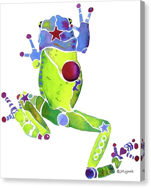 Spring Green Frog Canvas Print
