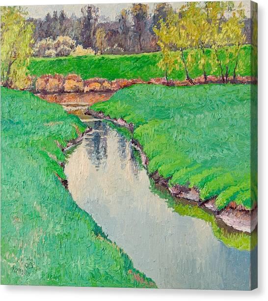 Spring In Bloom Landscape Canvas Print by Vitali Komarov