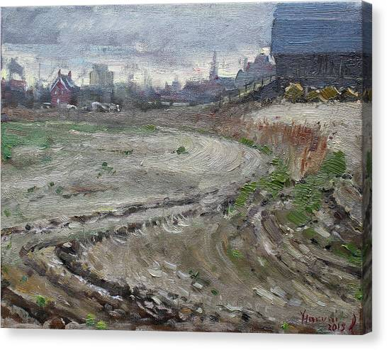 Ontario Canvas Print - Spring In The Farm by Ylli Haruni