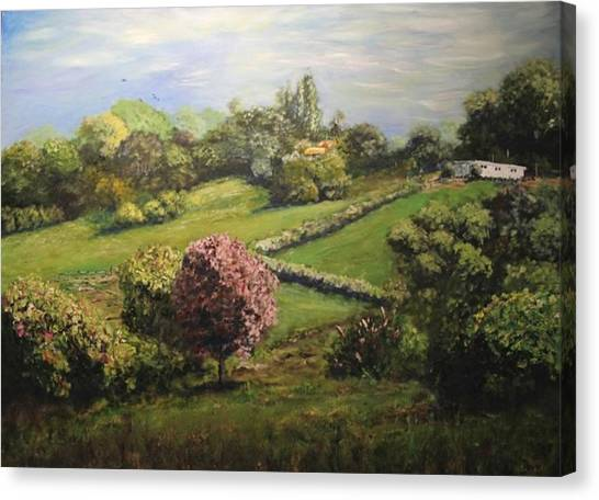 Spring In The Hills Canvas Print by Dave Manning