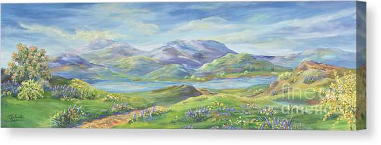 Warner Park Canvas Print - Spring In The Okanagan Valley by Malanda Warner