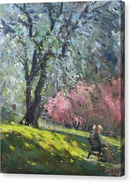 Ontario Canvas Print - Spring In The Park by Ylli Haruni