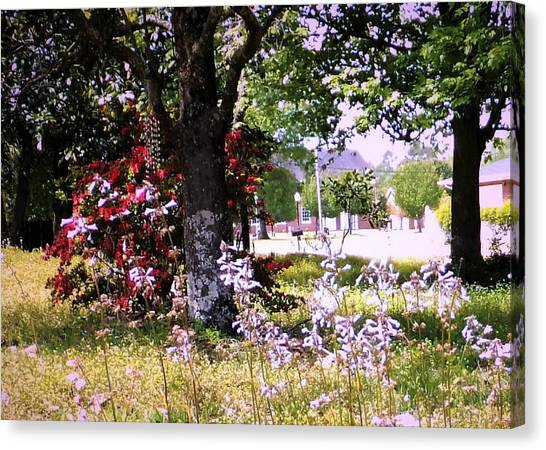 Spring In The Yard Canvas Print