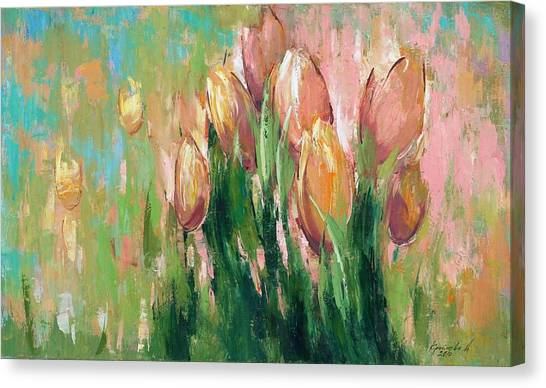 Peaches Canvas Print - Spring In Unison by Anastasija Kraineva