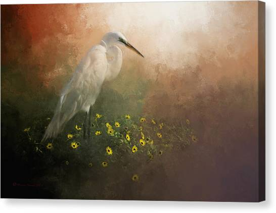 Egrets Canvas Print - Spring Is Here by Marvin Spates