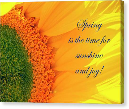 Spring Is The Time Canvas Print