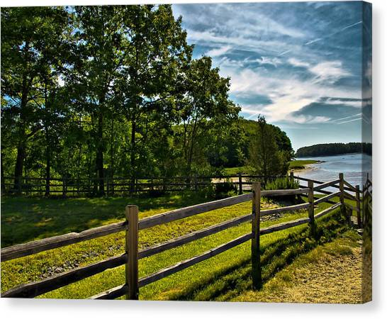 Spring Landscape In Nh 2 Canvas Print by Edward Myers