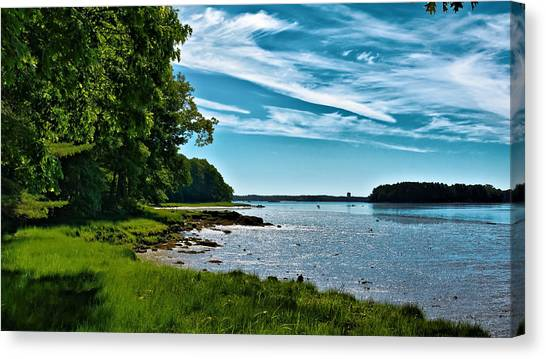 Spring Landscape In Nh 5 Canvas Print by Edward Myers