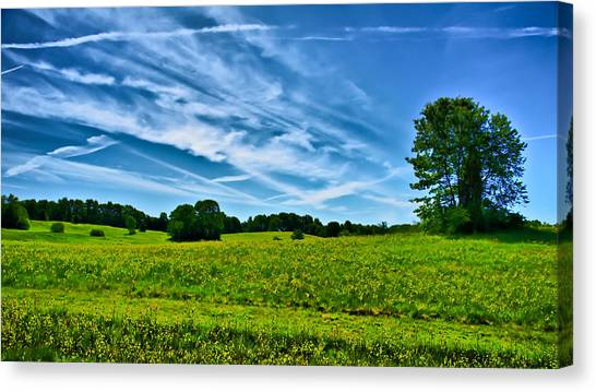 Spring Landscape In Nh Canvas Print by Edward Myers