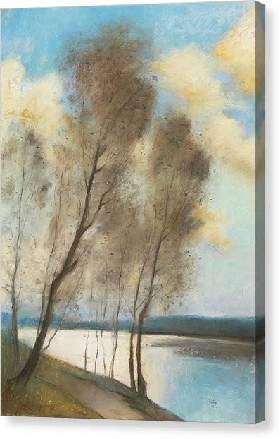 Jewish Painter Canvas Print - Spring by Lesser Ury