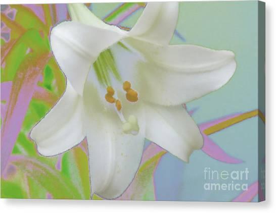 Spring Lily Pop Art Canvas Print by Susan  Lipschutz