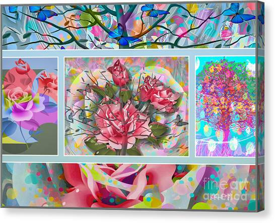 Canvas Print featuring the digital art Spring Medley by Eleni Mac Synodinos