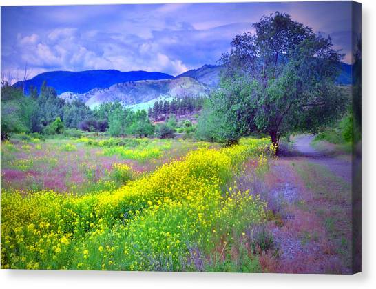 Okanagan Valley Canvas Print - Spring Morning Along The Channel Parkway by Tara Turner