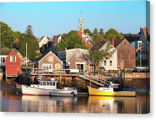 Spring Morning In Portsmouth South End Canvas Print by Eric Gendron