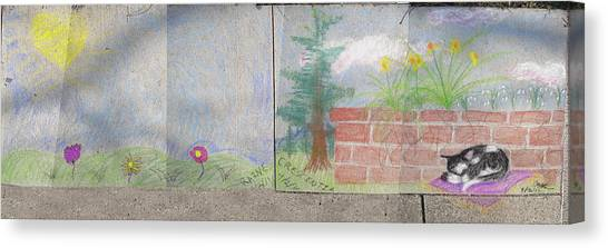 Spring Mural Canvas Print by Crescentia Mello and Raine Schmitt