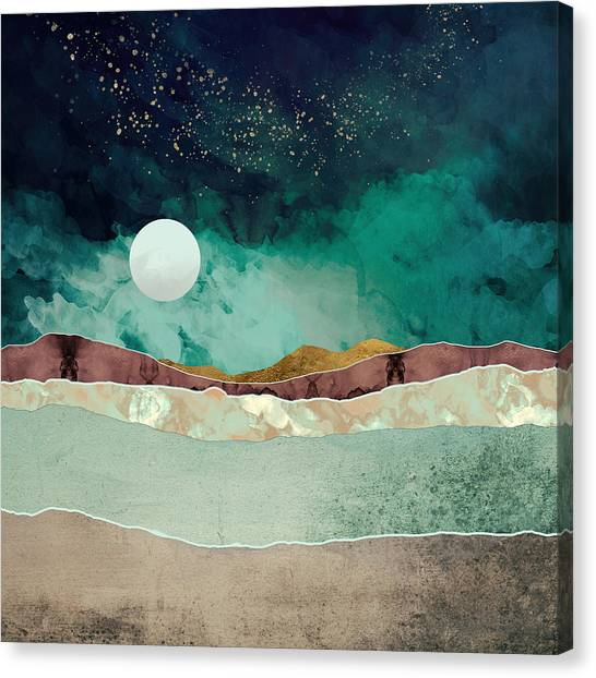 Landscape Canvas Print - Spring Night by Katherine Smit