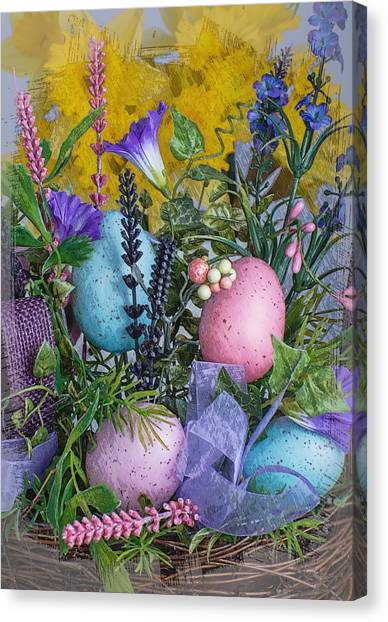 Canvas Print featuring the photograph Spring Pastel by Michael Moriarty