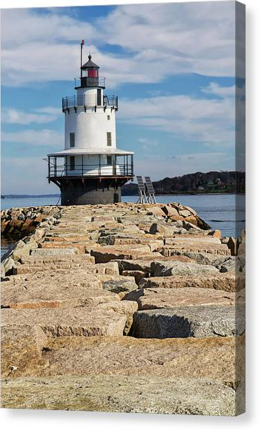 Spring Point Ledge Light Canvas Print