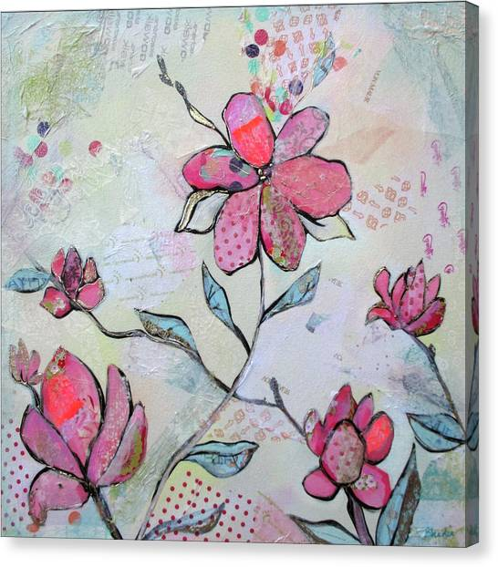 Magnolia Canvas Print - Spring Reverie II by Shadia Derbyshire