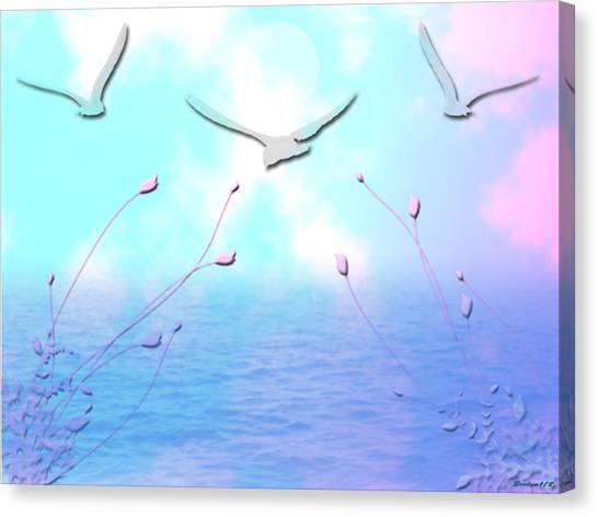 Spring Seas Canvas Print by Evelyn Patrick