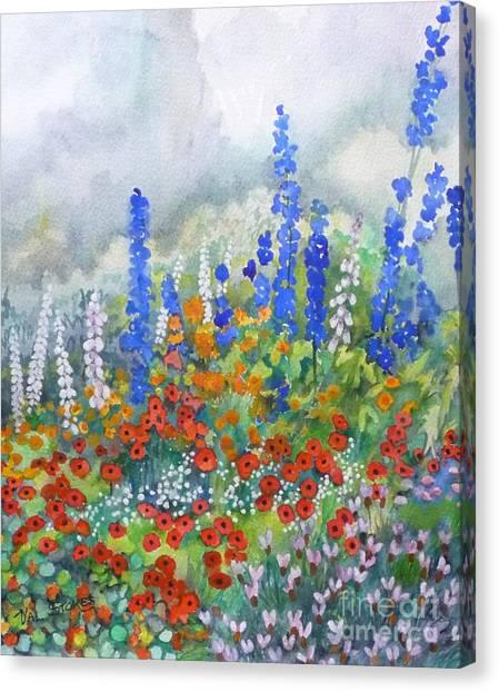 Spring Serenade Canvas Print by Val Stokes