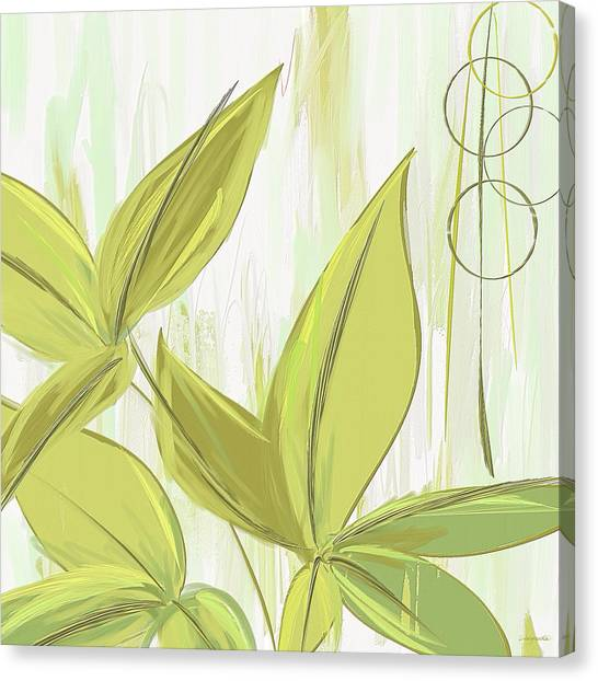 Spinach Canvas Print - Spring Shades - Muted Green Art by Lourry Legarde