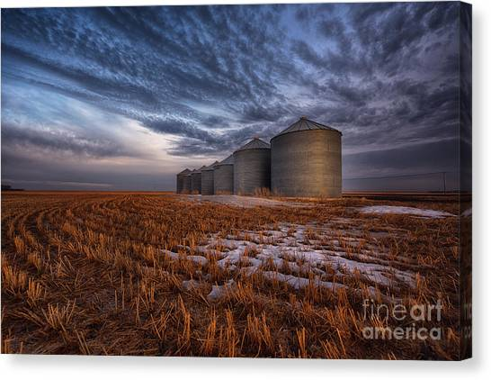 Saskatchewan Canvas Print - Spring Silos by Ian McGregor