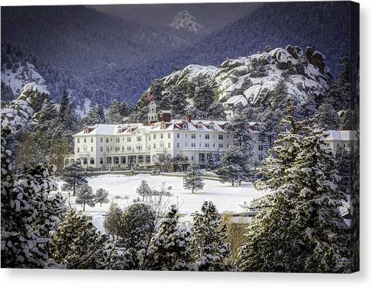 Spring Snow At The Stanley Canvas Print by G Wigler