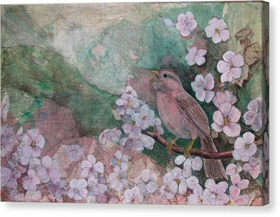 Spring Song Canvas Print by Sandy Clift