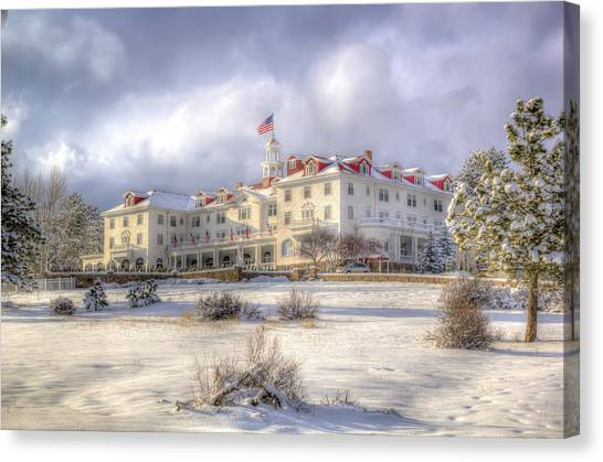 Canvas Print - Spring Storm At The Stanley Hotel by G Wigler